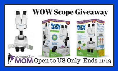 Enter the WOW Microscope Giveaway. Ends 11/19