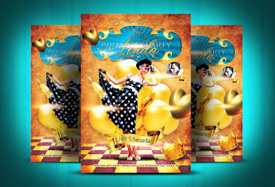 Birthday Party Flyer PSD Template + Facebook Cover