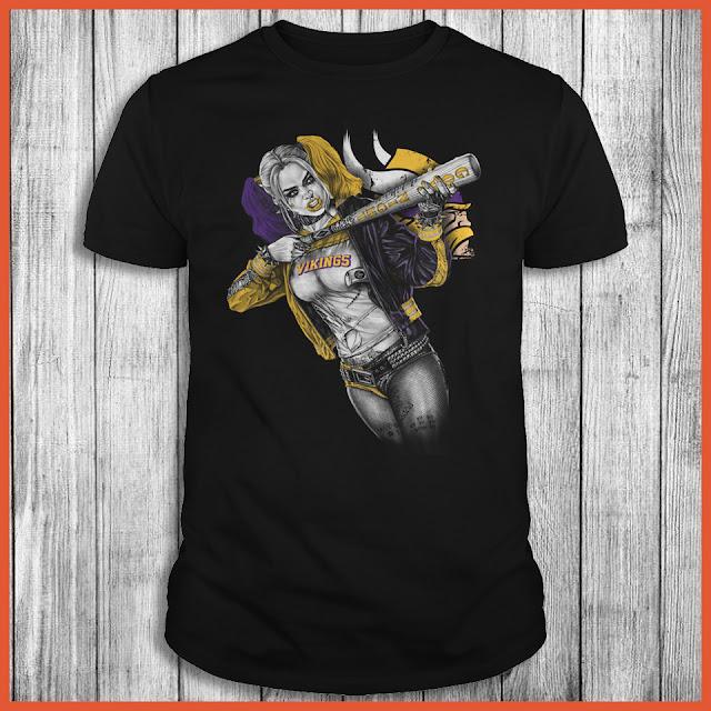 Minnesota Vikings Harley Quinn T-Shirt