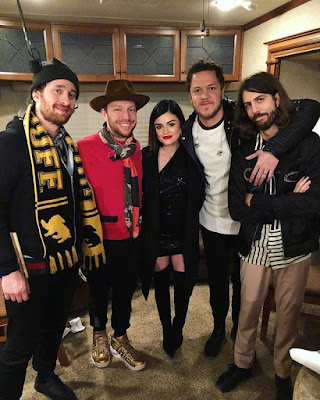 Lucy Hale and Imagine Dragons at Dick Clark's New Year's Rockin' Eve New Orleans