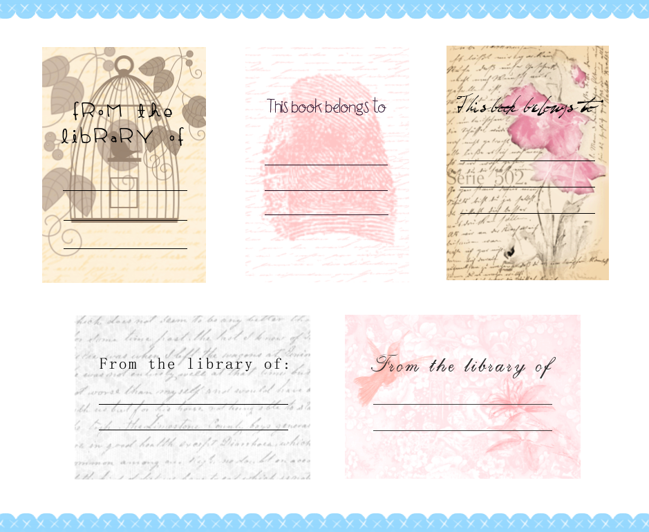 Free Printable Bookplates A Blackbird S Epiphany Uk Women S Fitness And Fantasy Writing Blog Free Printable Bookplates