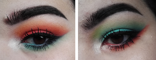 Orange and Blue Makeup