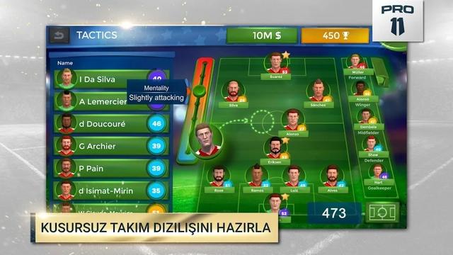 pro 11 futbol menajeri hile apk