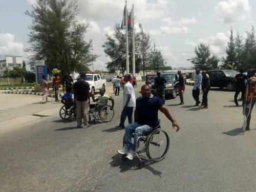 Physically Challenged Persons protest, block roads in Bayelsa