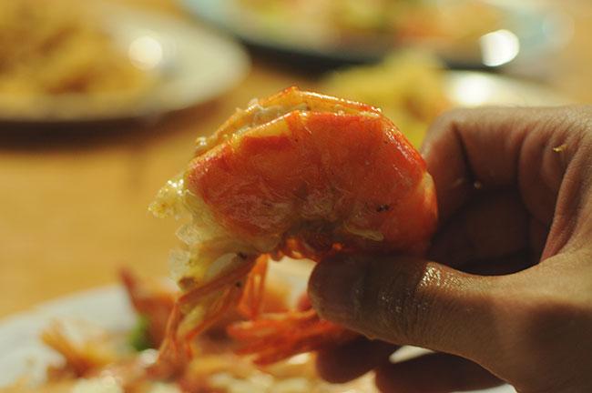 udang seafood yang juicy