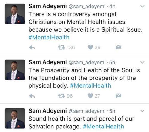 Pastor sam adeyemi s controversial tweets on mentalhealth