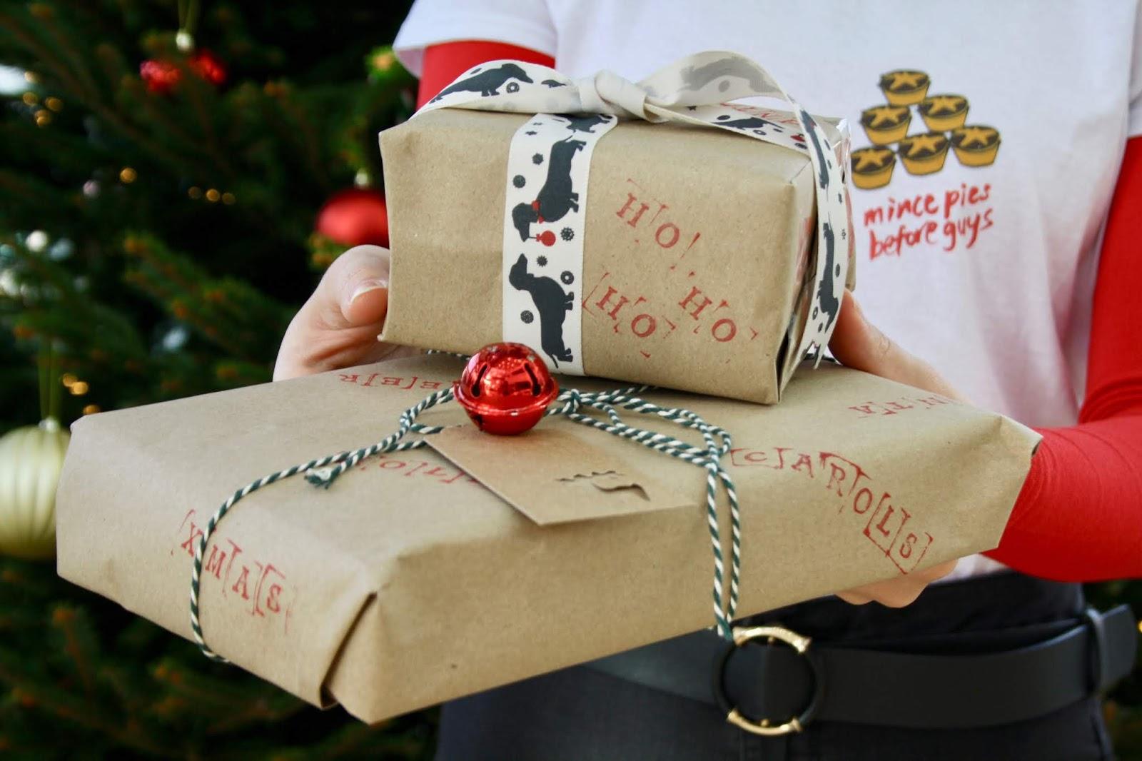 Christmas shopping presents festive buy shop