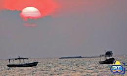 sunset saat senja wisata pulau tidung