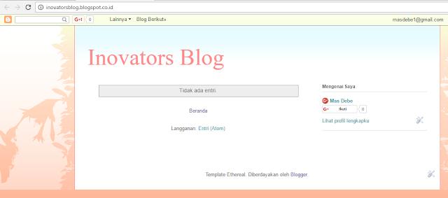 Blog kosong yang malang...