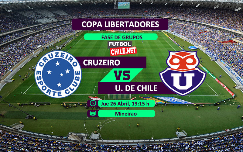 Cruzeiro vs Universidad de Chile - 19:15 - Copa Libertadores - Fecha 4 - 26/04/18