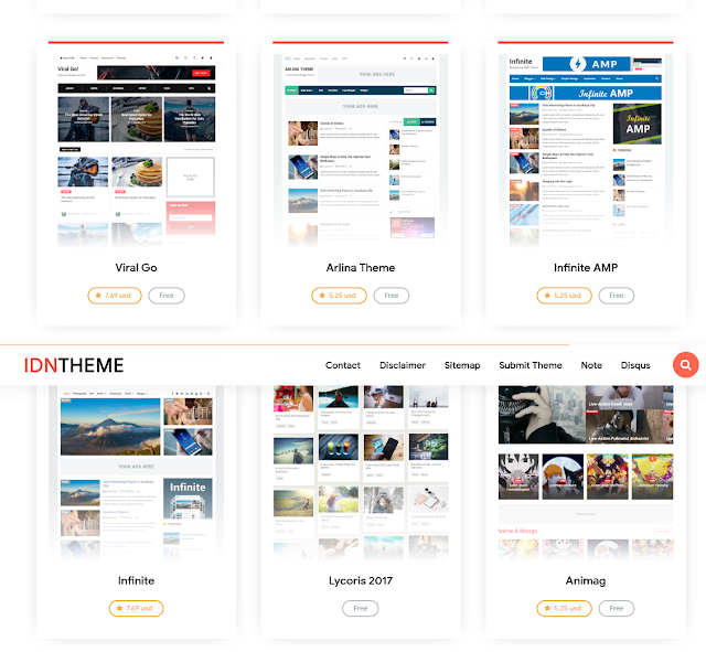 Website Jual Beli Template Blog idntheme.com