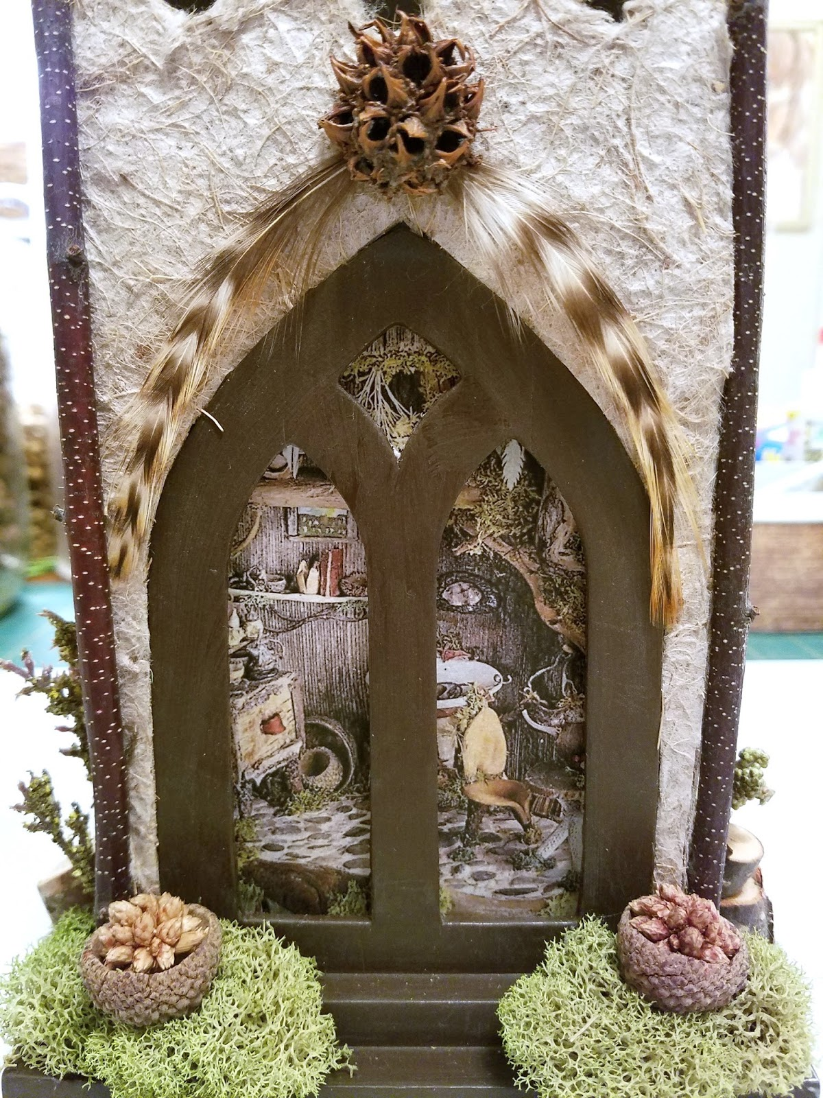 The Feathered Nest A Whimsical Fairy House