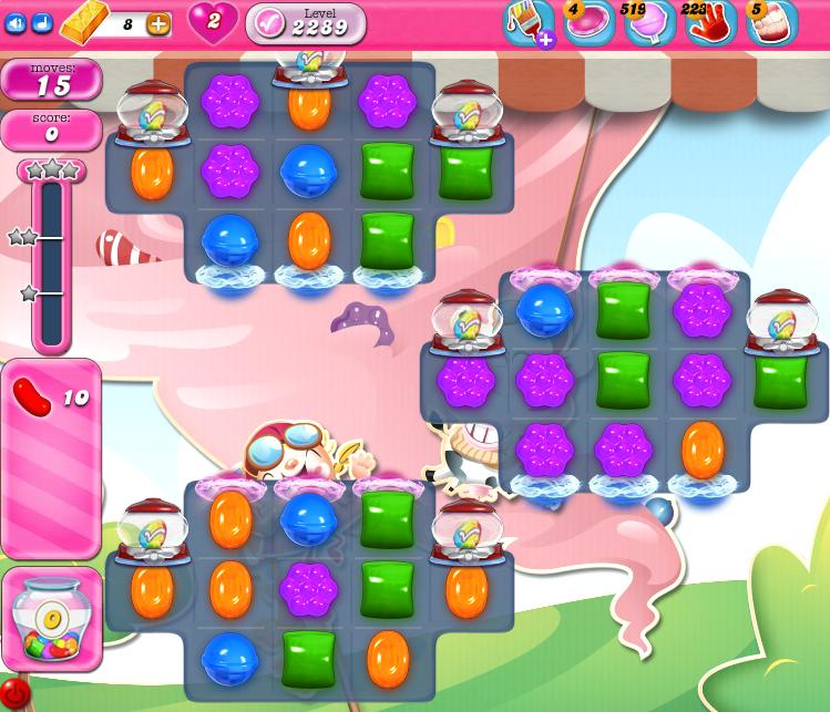 Candy Crush Saga level 2289