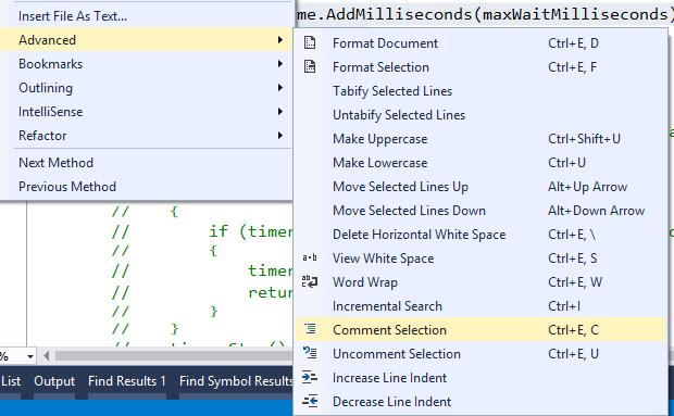 Jeremy Bytes: Visual Studio Shortcuts: Comment Selection