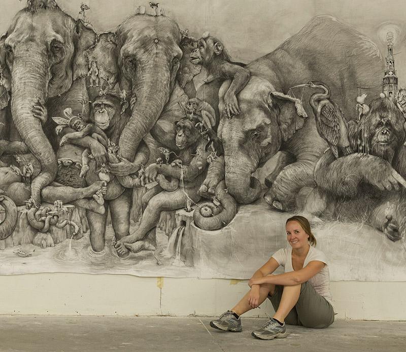 Art Prize Winner Adonna Khare mural