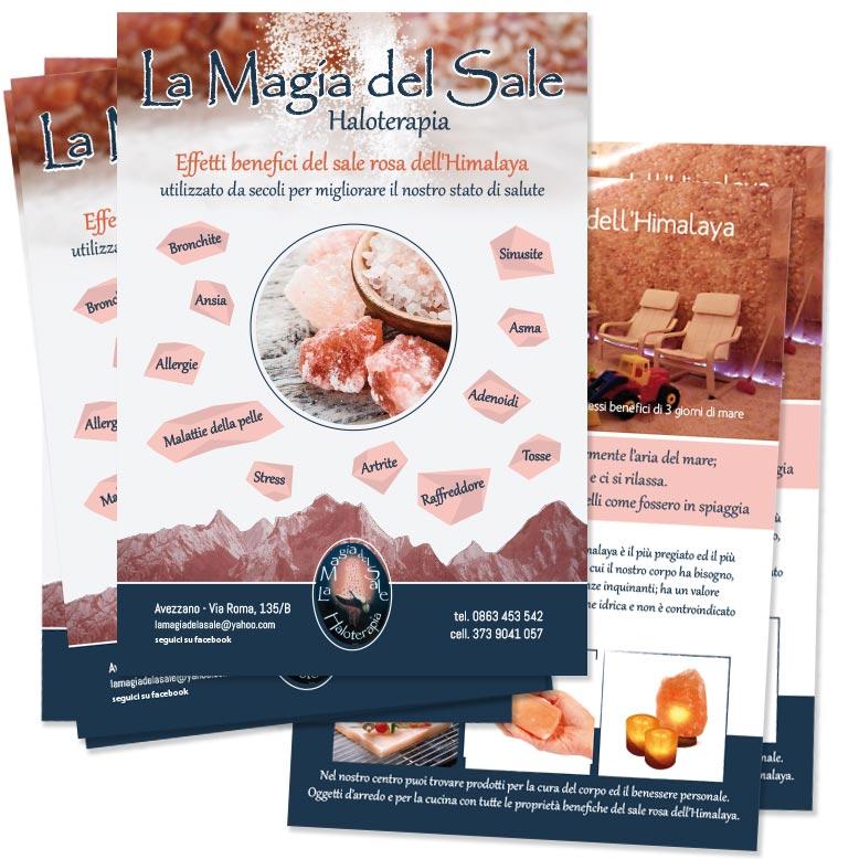 Flyer, Brochure, Grotta di sale, Avezzano