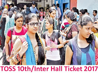 TOSS Telangana TS Open School 10th / Inter Hall Tickets 2017