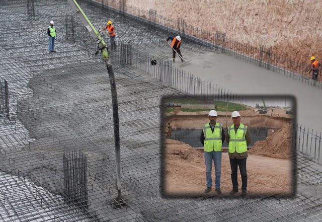 Bozova'da yeni hastanenin ilk betonu döküldü