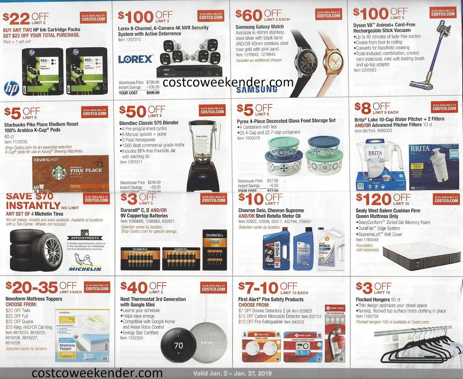 Costco January 2019 Coupon Book Costco Weekender