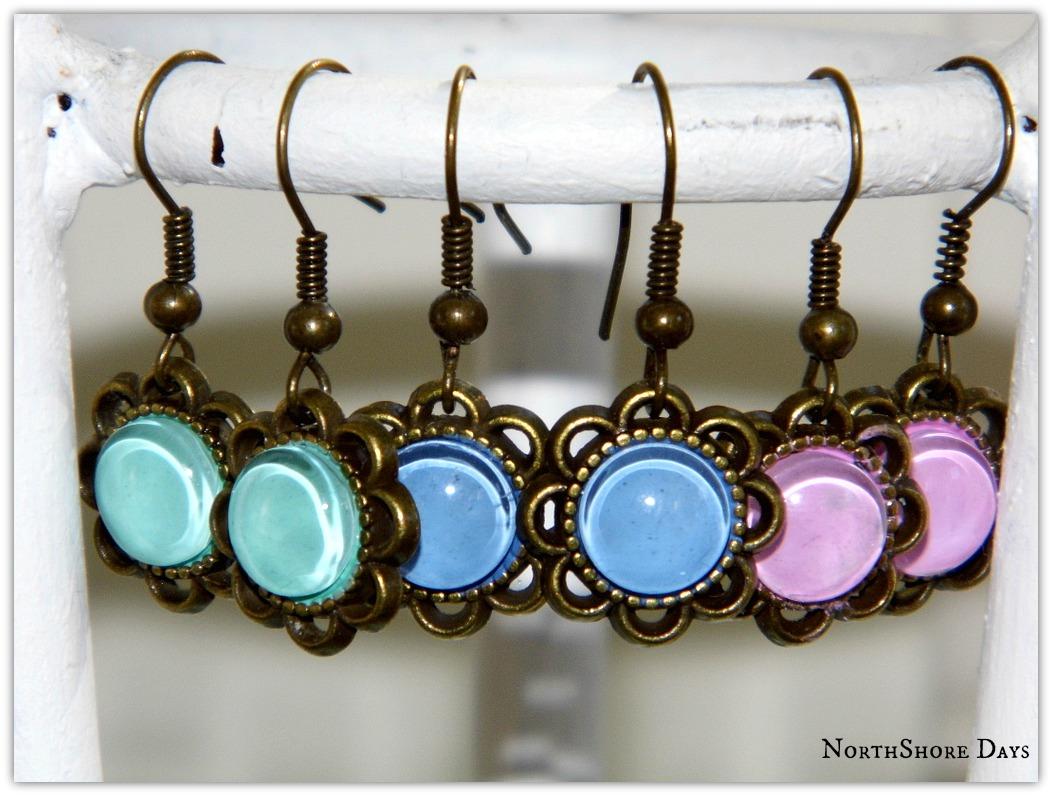 NorthShore Days.....: 3 Step Nail Polish Earrings