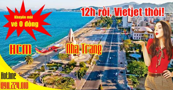 Vietjet khuyến mãi vé 0 đồng đi Nha Trang bay từ TP.Hồ Chí Minh