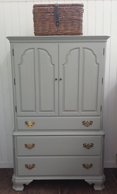 Vintage painted furniture, Armoire, West Sussex