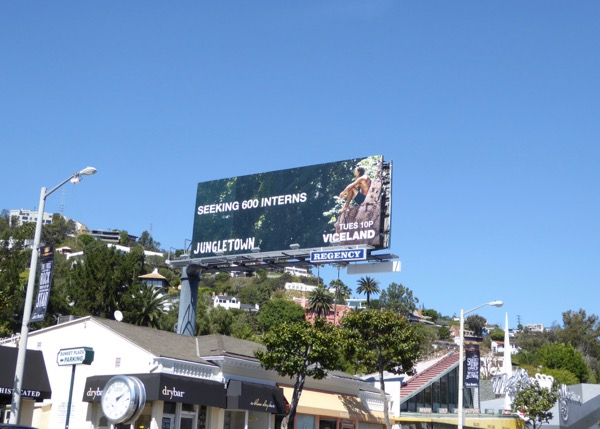 Jungletown Viceland TV series billboard