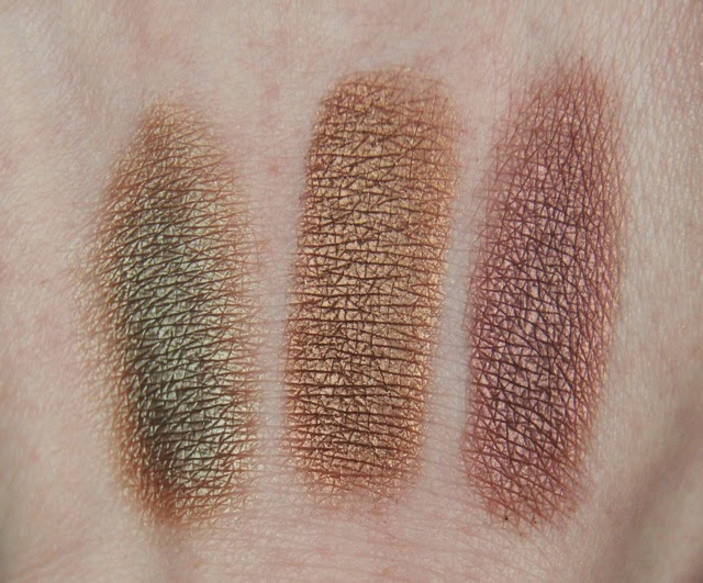 mac eyeshadows sumptuous olive tempting twinks swatches