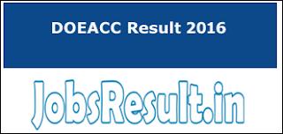 DOEACC Result 2016