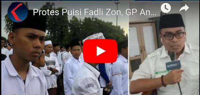 Protes Puisi Fadli Zon, GP Ansor Beri Waktu 5x24 Jam untuk Minta Maaf