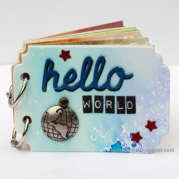 Layers of ink - Ticket Mini Book Tutorial by Anna-Karin Evaldsson