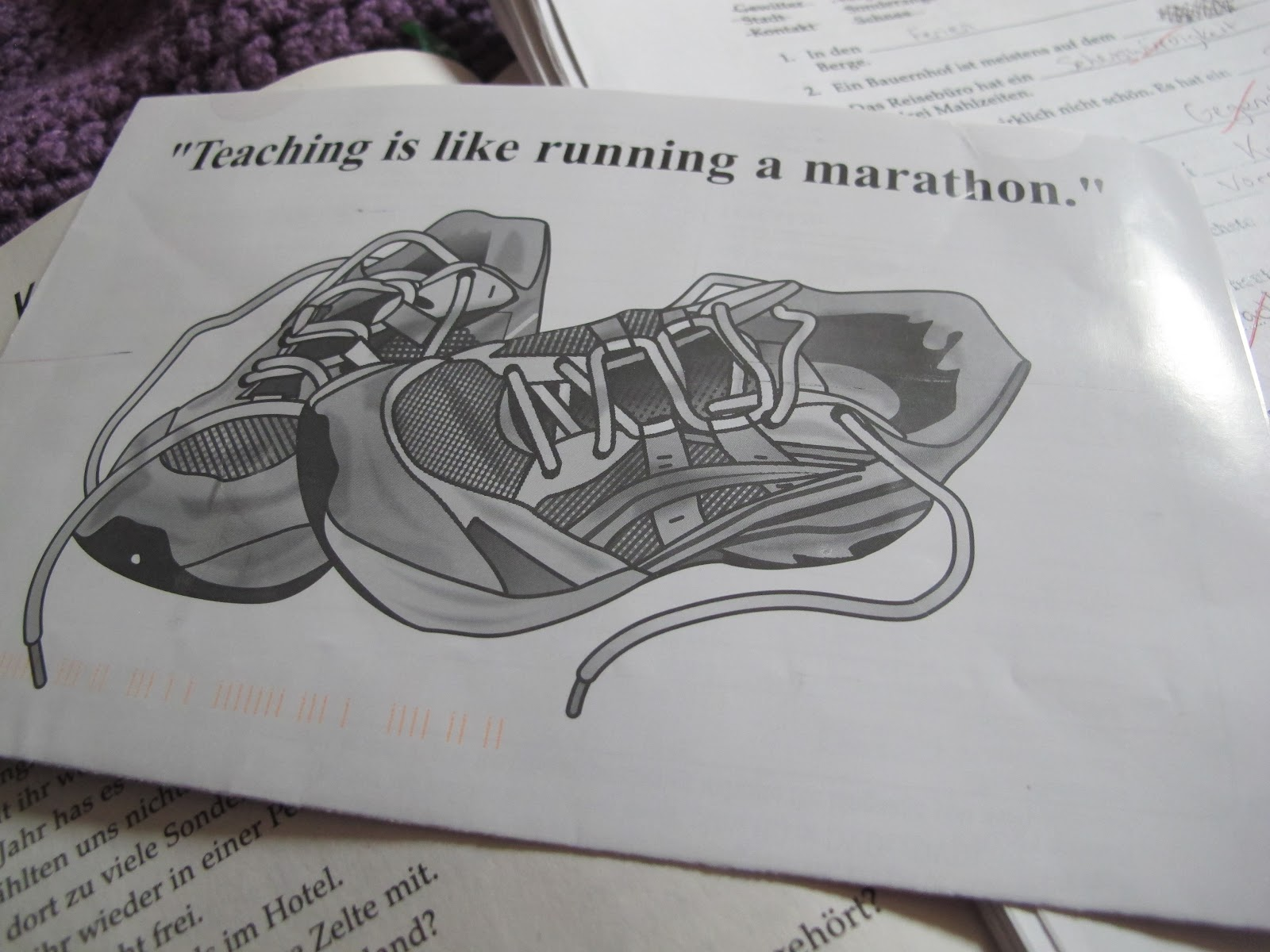 I Thought They Said Rum Teaching Is Like Running A Marathon