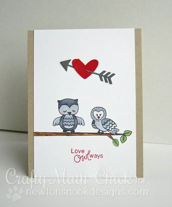 Love Owl-ways Card by Crafty Math Chick | Stamps by Newton's Nook Designs #newtonsnook