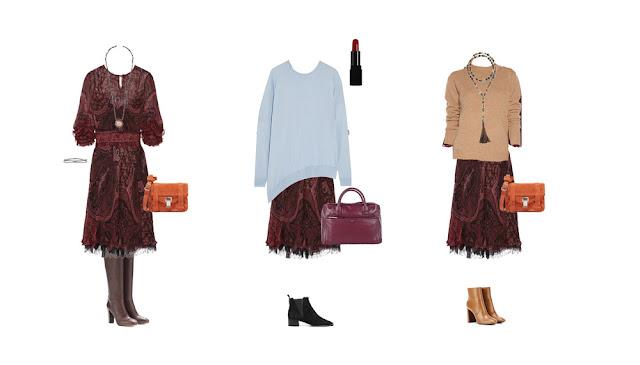 Комплекты с платьем с принтом в стиле бохо богемный шик