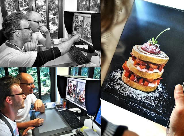 Koch Manuel Weyer und Food-Fotograf Mathias Neubauer bei der Kochbuch-Produktion.