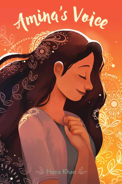 Beautiful 2017 Book Cover Designs Girl illustration Amina's Voice Henna Khan