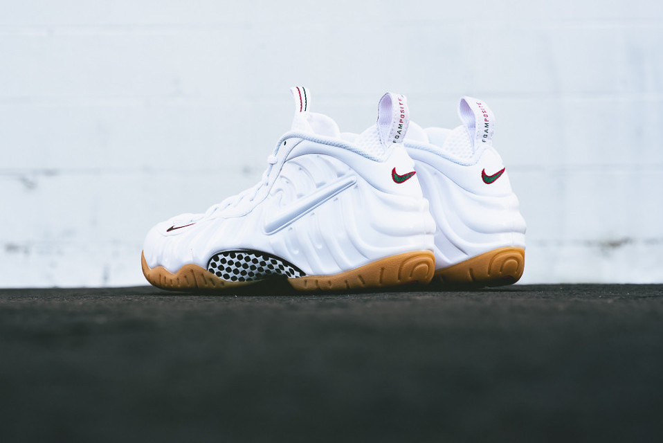 """promo code cde37 48aaf The popular Nike Air Foamposite Pro returns in a winter white colorway for  Fall 2015. Unofficially called the """"White Gucci,"""" this latest version of  the ..."""