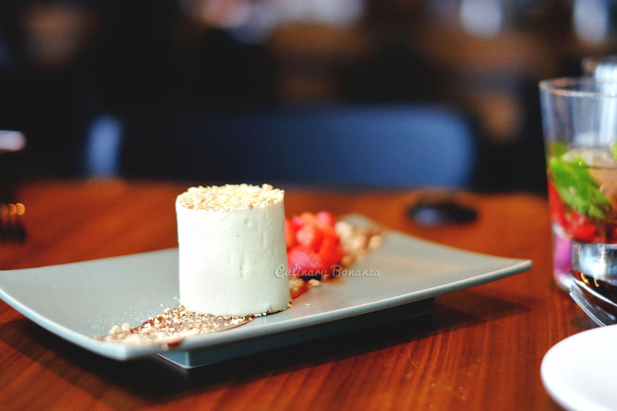 Monkey Shoulder Cranachan cheesecake at Bread Street Kitchen by Gordon Ramsay (www.culinarybonanza.com)
