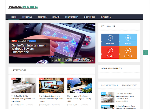 Chia sẻ Template Blog MagNews