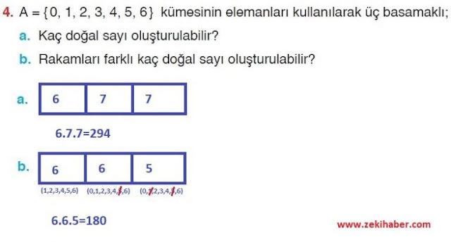 10. Sınıf Aydın Yayınları Matematik 26. Sayfa Cevapları 1. Ünite