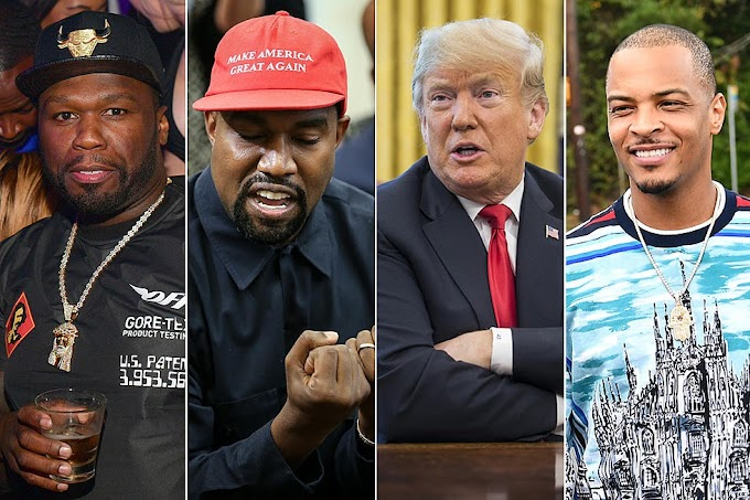 T.I, 50 Cent and more react to Kanye West's White House meeting with President Trump