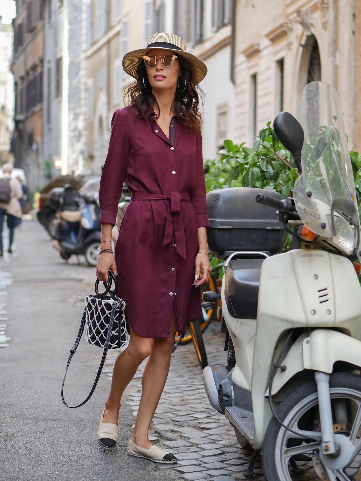 DEEP RED DRESS AS ITALIAN WINE