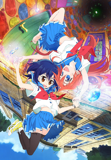 Plakat z bohaterkami anime Flip Flappers