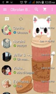 BBM Mod Cat Pink V2.13.1.14 Apk Terbaru