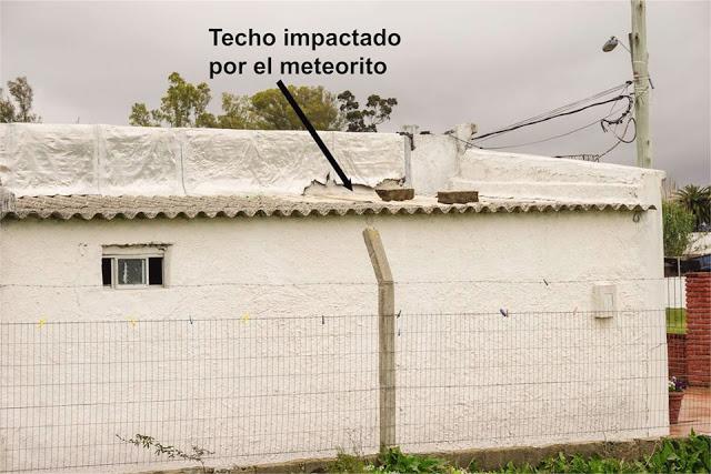 meteorito atinge casa