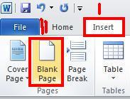 cara menambahkan halaman baru di microsoft word