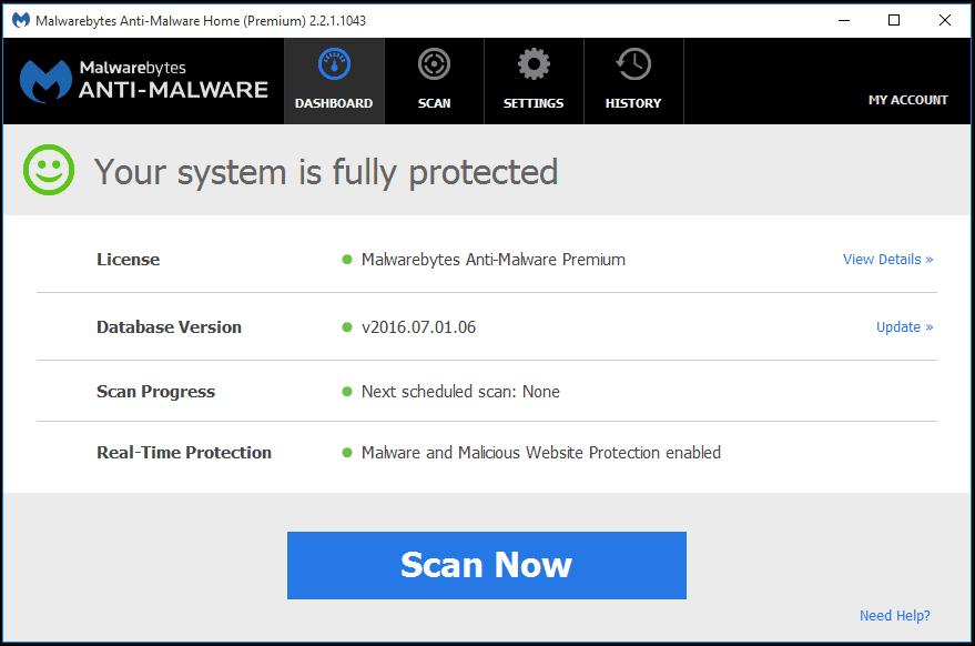 اقوى, برنامج, لمكافحة, ملفات, التجسس, والحماية, من, الاختراق, Malwarebytes ,Anti-Malware, اخر, اصدار
