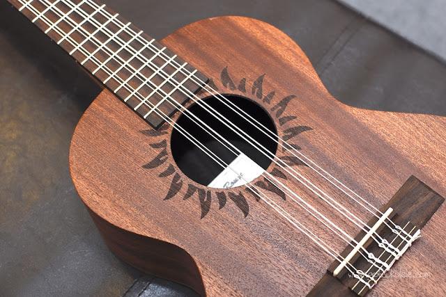 Baton Rouge V2T8 Sun 8 String Tenor ukulele rosette
