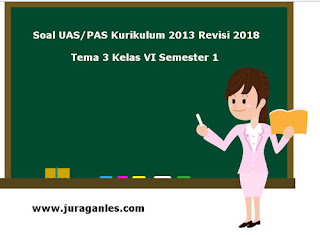 Kumpulan Download Soal UAS/ PAS Tema 3 Kelas 6 SD Semester 1 K13 Revisi 2018
