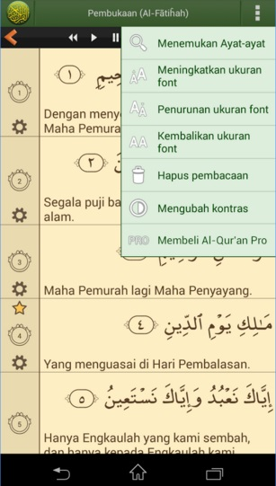 The description of Al Quran Indonesia